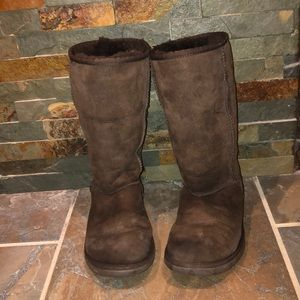 Women's tall uggs brown
